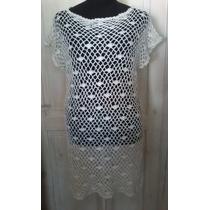 Vestido Túnica Artesanal Tejida Crochet