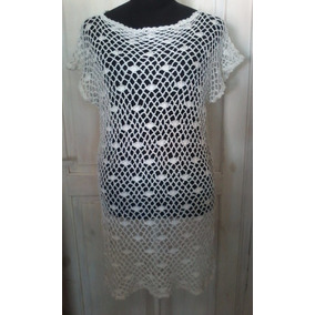 Vestido/túnica/salida De Playa Tejida Crochet Artesanal