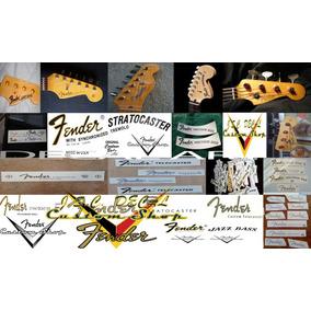 Decal Fender Frete Grátis Waterslide Guitarra