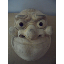 Mascara Japonesa De Madera Oriental Retyro Vintage Souvenir