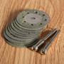 10 Discos Corte Diamantados De 30mm Para Mini Torno Dremel