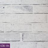 Wall Decor Tijolo Branco - Tecido Decorativo - Largura 1,40m