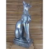 Gato Egípcio Bastet Decoração Estatueta Escultura Estatua