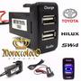 Cargador Usb Auxiliar Audio Tablero Toyota Hilux Sw4 Import