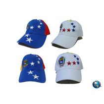 Gorras De Venezuela Tricolor Blanca Vinotinto. Somos Tienda.