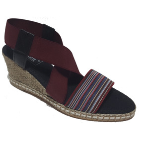 Sandalias De Mujer Elastizada Con Taco Chino