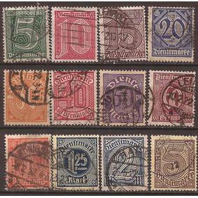 Alemania Reich 1920 Correo Oficial 12 Sellos Usados 22 U$d