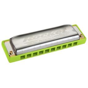 Gaita Harmônica C Dó Hohner Rocket Amp Verde
