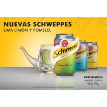 Schweppes Tonica, Lima Limon, Pomelo En Latas 354cc