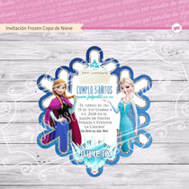 Tarjeta De Invitacion Frozen Copo De Nieve
