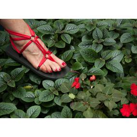 Sandalias Romanas Flowers Con Tiras Intercambiables Lycra