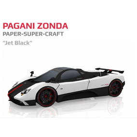 Pagani Zonda Jet Black - Super Paper Model (carro De Papel)