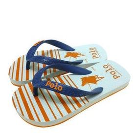 2bd76ca80f Polo Shoes. Chinelo. Azul Marinho   Laranja - 31-32 Infantil