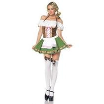 Disfraz Sexy Gretchen Mujer Cervecera Halloween Dama Vestido