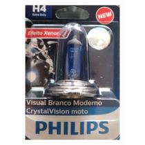 Lampada Farol Moto H4 Super Branca Philips Titan Twister
