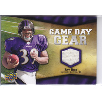 2009 Upper Deck Game Day Gear Jersey Ray Rice Rb Ravens