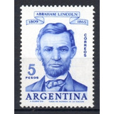 Argentina 1960 Gj 1168** Me 618 Mint Abraham Lincoln