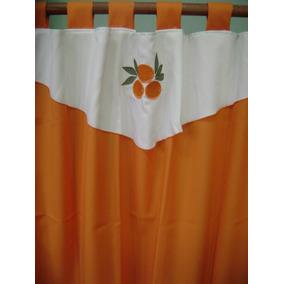 Cortinas De Cocina Color Naranjas