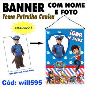 Banner Fotográfico P Criança Festa Patrulha Canica Will595