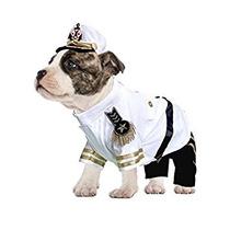 Disfraz Para Perro Yate De Vestuario Almirante W / Sombrero