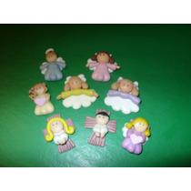 Apliques Miniatura De Angelitos En Porcelana Fría