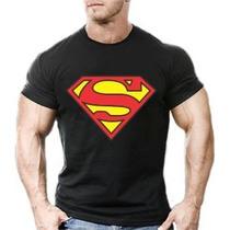 Camisa Camiseta Superman Masculina Malhar Academia 20% Off