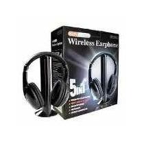 Fone De Ouvido S/fio Wireless 5 In1 Mp3 Pc Tv Dvd Fm Skyp W5