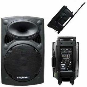 Caixa Som Ecopower Ep:1291 350w Rms 2 Microfone Bluetooth