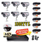 Kit Video Grabador Digital 6 Camara Espia Infrarroja Cctv