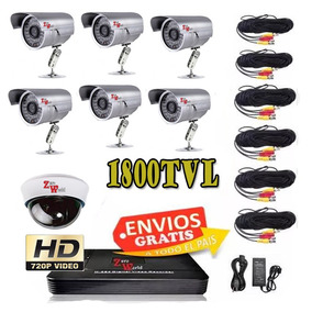 Kit Video Grabador Digital 6 Camara Espia Infrarroja Cctv