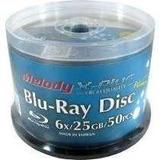Blu Ray Printables Melody 25gb Bulk Cerrado De 50 Discos