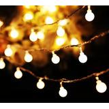 Serie Luz Led Focos Esfera Pilas Xv Mesa Vintage Navidad Bar