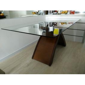 Mesa De 6 Lugares (madeira + Tampo Vidro) - 12x S/juros