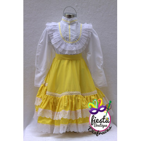 Vestido Chihuahua Regional Típico Tioic Niña Traje Disfraz