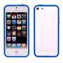 Capa Case Capinha Iphone 6/6s Bumper Azul Top Protetcao Lado