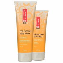 Kit Pós Escova Redutoras / Red Iron = Shampoo + Hidratante