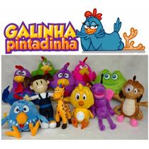 Kit Com 6 Pelúcias Da Turma Da Galinha Pintadinha