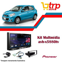 Multimidia Nissan March 2015 Pioneer 5880 Dvd Tv Bluetooth