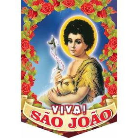 Decoração Imagem São João Batista 46cm Festa Junina 06 Unid.