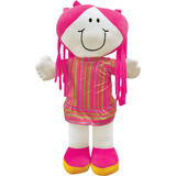 Boneca Para Quarto De Meninas Pink 52cm Tecido Plush