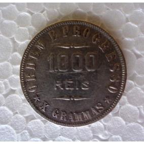 Moeda Antiga 1000 Réis 1911 Prata Mbc Numismática