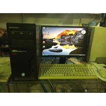 Computadora Lenovo Con Monitor Lg Lcd 19 Mouse Y Teclado