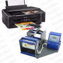Kit Prensa De Caneca+impressora Sublimática L220+tinta