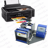 Maquina De Estampar Canecas + Impressora Sublimatica + Tinta