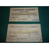 Lote 2 Entrada Ticket Recital Ricardo Arjona Luna Park 2006