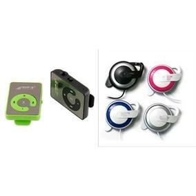 Kit 2 Mp3 Player Cartao Portatil Com 2 Fone De Ouvido