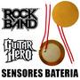 2 Sensores Bateria Rock Band Guitar Hero Xbox 360 27mm