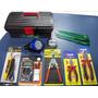 Kit Eletricista 12 Itens Multímetro Chaves Alicates Lanterna