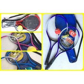 Raqueta De Tenis X2+pelota+funda Niños Infantil Junior Playa