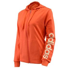 Campera adidas Esslinear Hoody Mujer Naranja